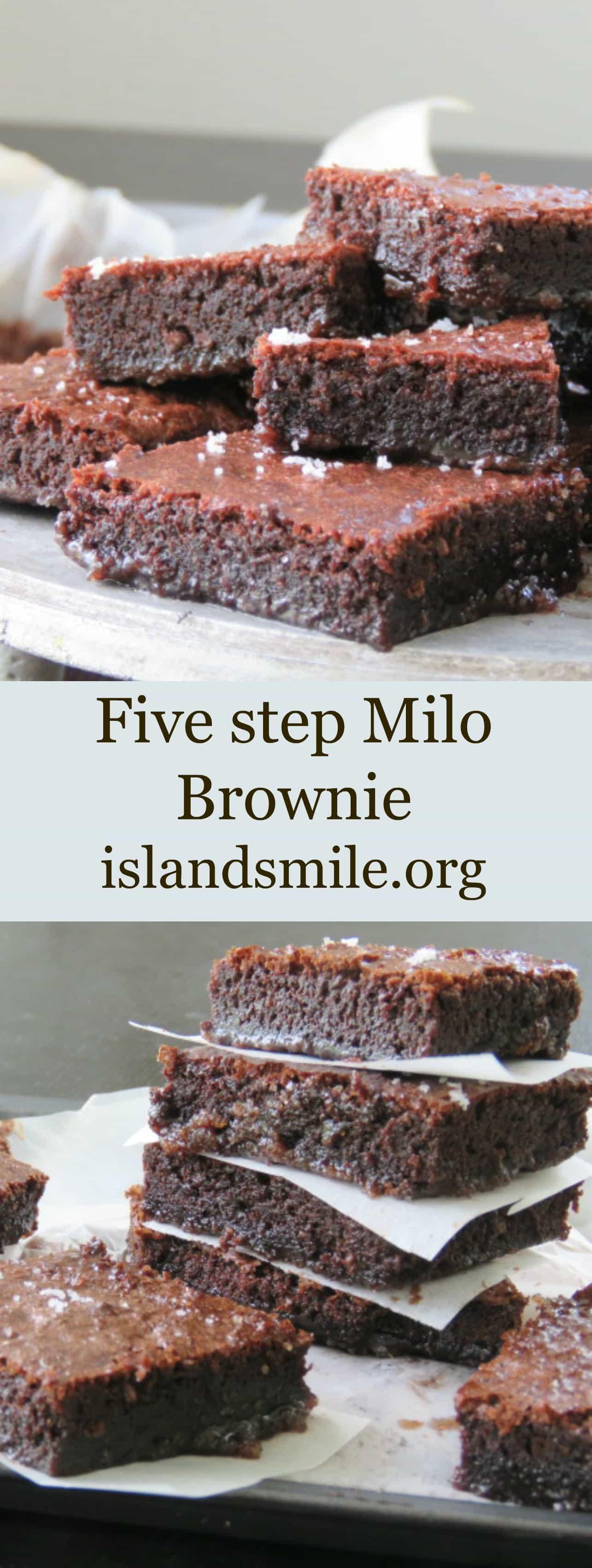 five step milo brownie