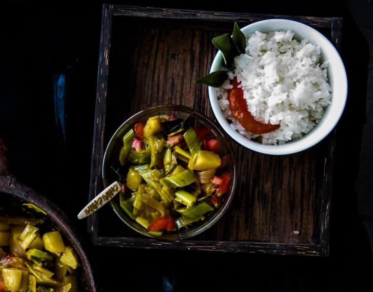 POTATO AND LEEKS CURRY,A vegetarian and vegan dish which is also Srilankan-4889