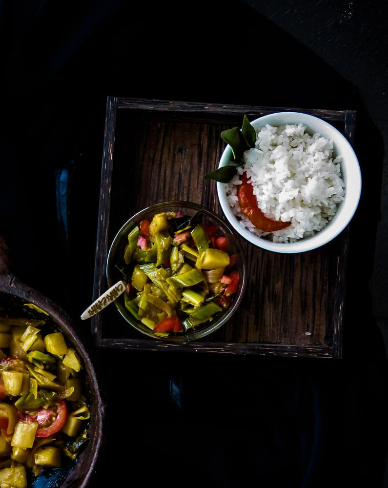 POTATO AND LEEKS CURRY,A vegetarian and vegan dish which is also Srilankan-islandsmile.org