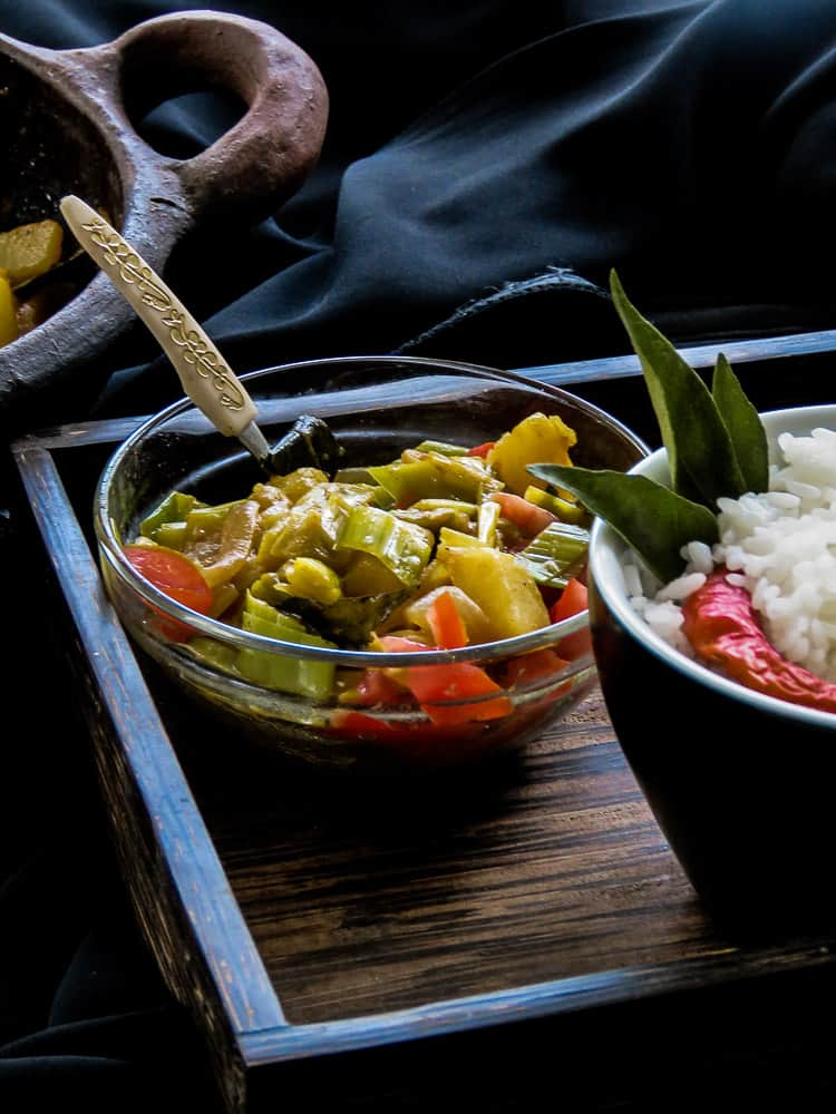 POTATO AND LEEKS CURRY,A vegetarian and vegan dish which is also Srilankan-4904