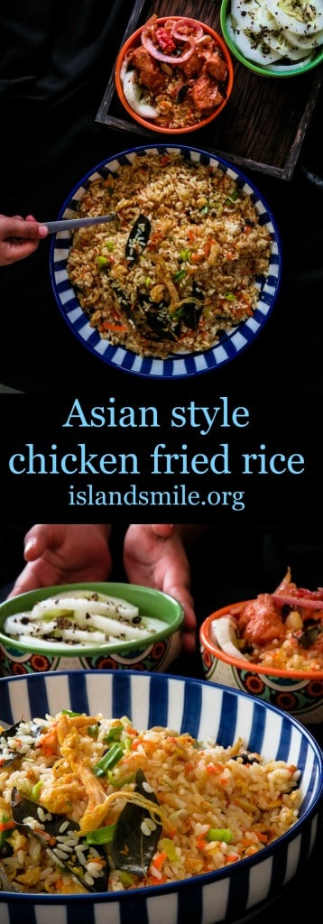 Easy asian style chicken fried rice