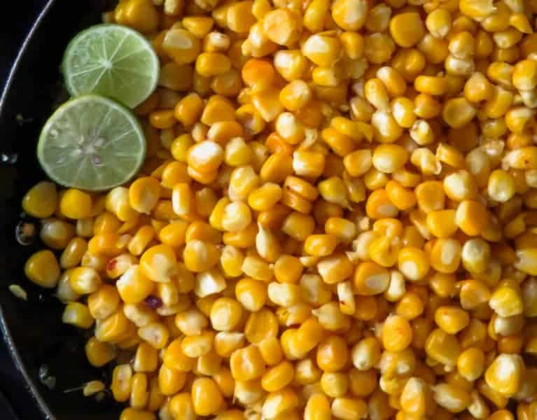 homemade chilli, lime and butter corn image