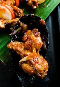 pan fried spicy chicken wings(devilled) -islandsmile.org