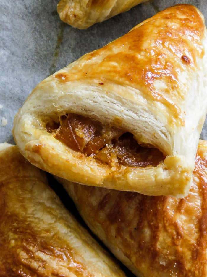 Eggs and sweet and spicy caramalized onion pastry pies-islandsmile.org