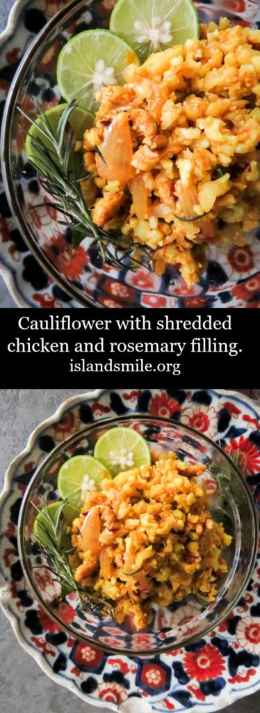Cauliflower with shredded chicken and rosemary filling-islandsmile.org