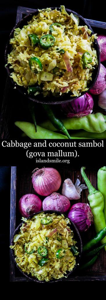 Cabbage and coconut sambol(gova mallum)-islandsmile.org
