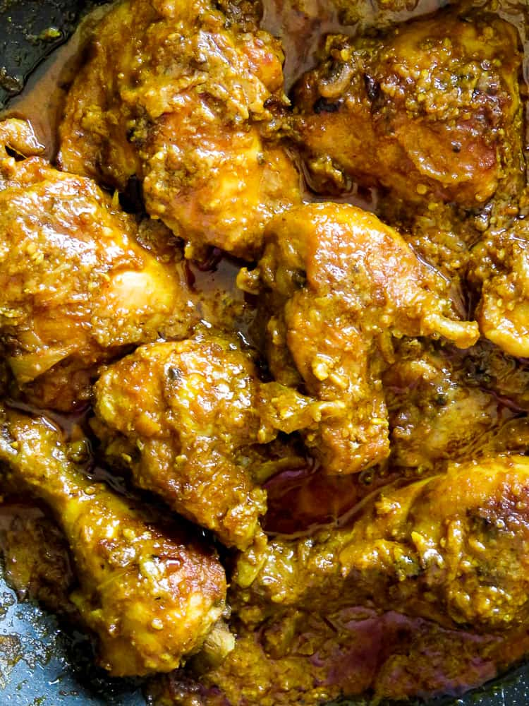Hyderabadi chicken with Sesame -peanut based gravy- islandsmile.org