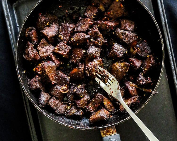 Pan-fried sizzling Black beef-islandsmile.org