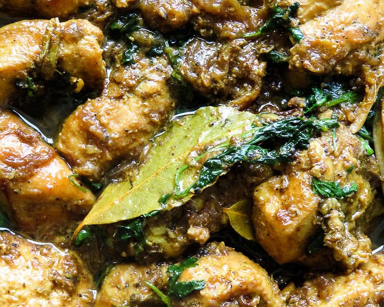 cardamom infused ginger garlic chicken(masala murgh) -islandsmile.org