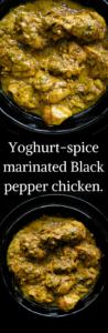 Yoghurt-spice marinated Black pepper chicken-islandsmile.org
