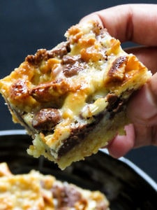 luscious chocolate-cashewnut layered bars -islandsmile.org