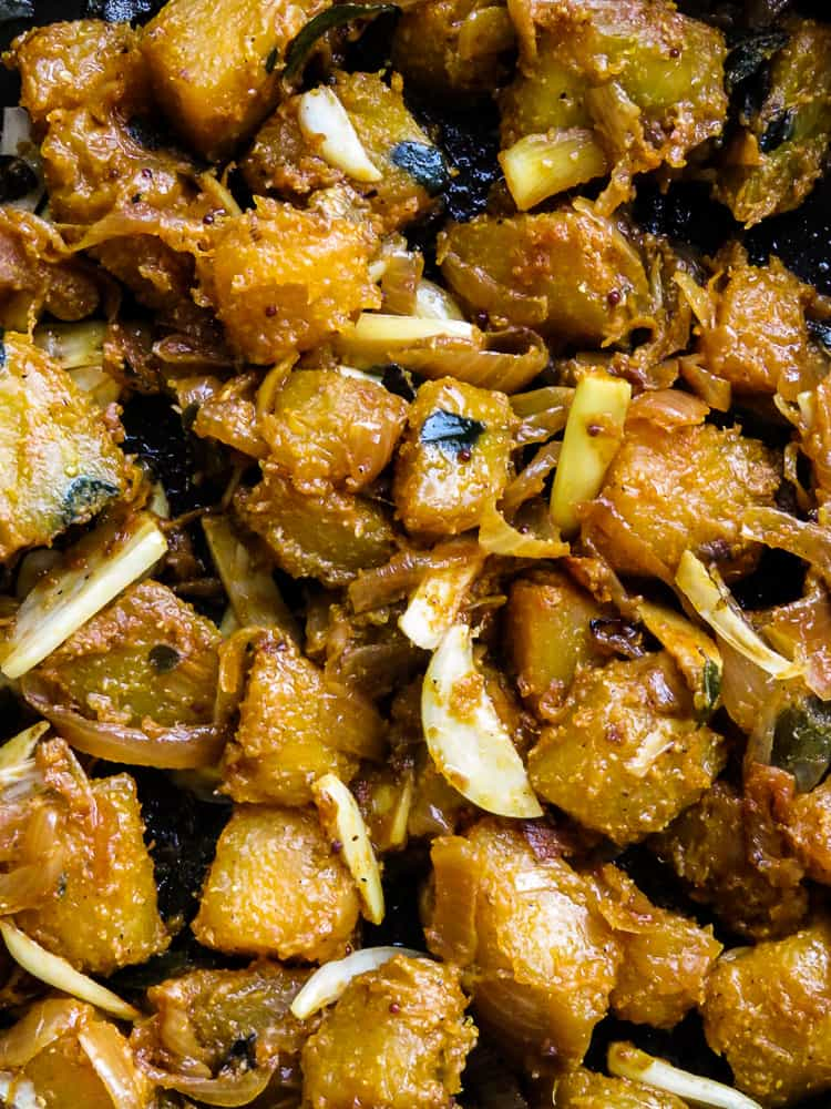 pan fried turmeric pumpkin stir-fry-islandsmile.org