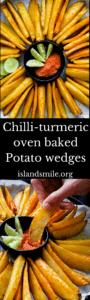 chilli-turmeric crispy ovenbaked potato wedges-islandsmile.org