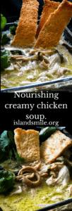Nourishing creamy chicken soup-islandsmile.org